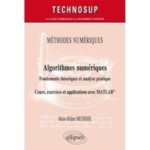 LIVRE PROGRAMMATION Algorithmes numériques : fondements théoriques et