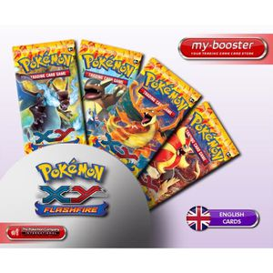 CARTE A COLLECTIONNER 1x Booster Pokemon XY Flashfire (Etincelle) ANGLAI