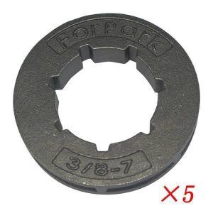 TRONÇONNEUSE 5Pcs 7 Sprocket Pignon Chaine Convient 4500 5200 5