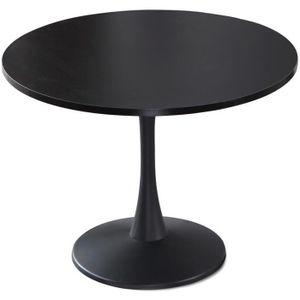 TABLE À MANGER SEULE Table ronde Necy Noir