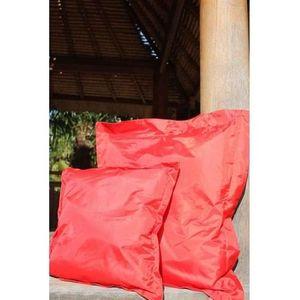 COUSSIN Lot de 2 Coussins Extérieurs Rouge 45 x 45 x 4 cm
