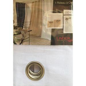 RIDEAU Rideau à oeillets LIN  BLANC 140 x 250cm PROMOTION