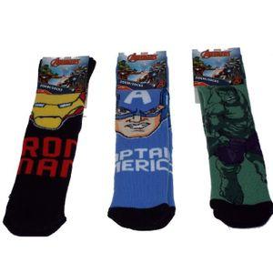 CHAUSSETTES 1 paire de Chaussettes anti-dérapantes Avengers,ta