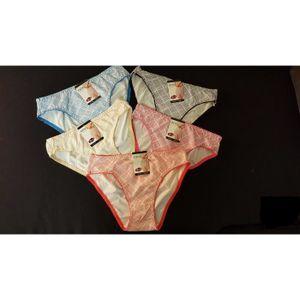 CULOTTE - SLIP Lot de 6 Slip culotte Femme 100% coton couleur ass