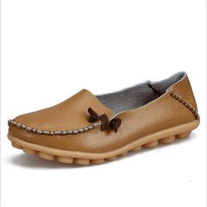 femme Chaussures Marque De Luxe Respirant Antidérapant Poids Léger Loafer Nouvelle Mode En Cuir Grande Taille Moccasins 3jysS