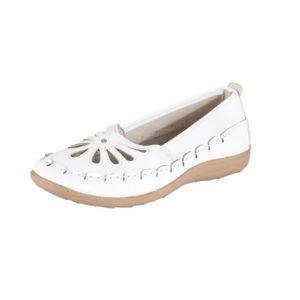 MULE Lisanne Chaussures Confort des femmes en blanc