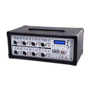 TABLE DE MIXAGE Pronomic PM83U 8-Channel Powered Mixer avec USB /