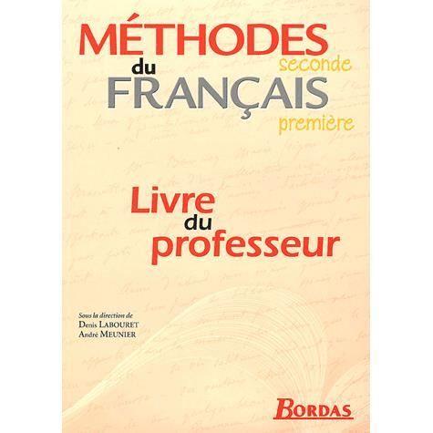 Methodes Du Francais 2nde 1ere Livre Du Professeu Achat