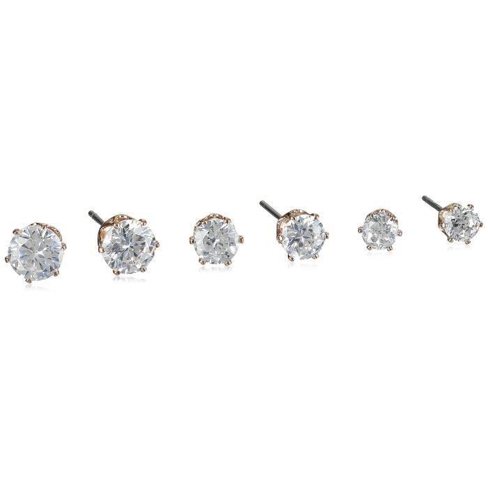 Anne Klein Tons Or Rose 3oxyde De Zirconium Clous Pour Oreilles Percées Z680T