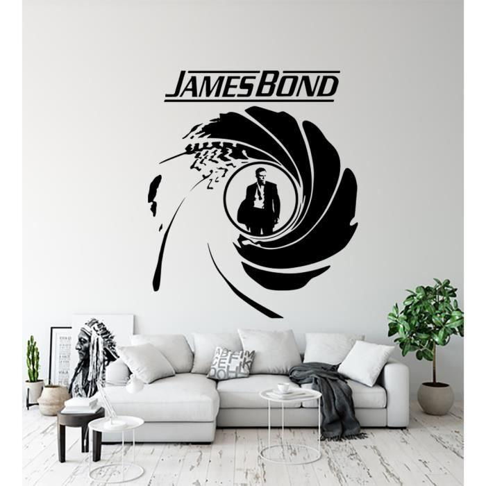 Sticker James Bond 007 Autocollant Mural Déco Chambre Bureau