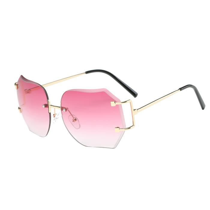 Lunettes Lunettes de soleil polarisées lunettes de soleil anti-UV unisexe ( couleur : Peach-pink ) UHvd4Uup7