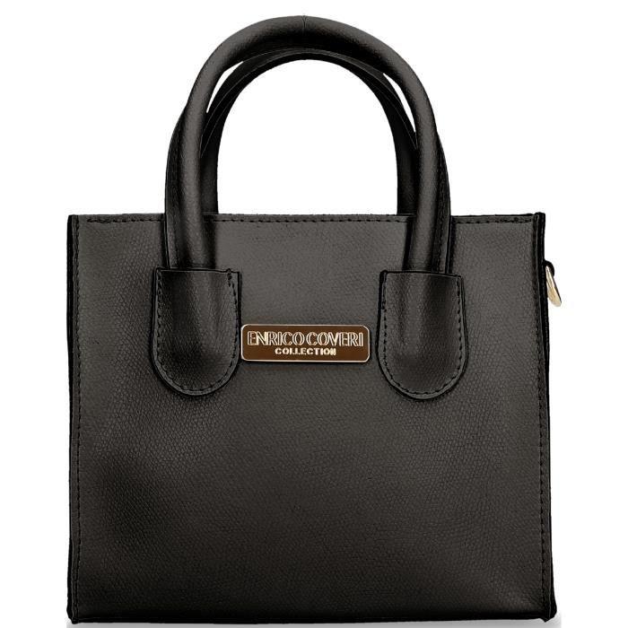 Erico Coveri Collection - Sac bandoulière Allegra en cuir noir