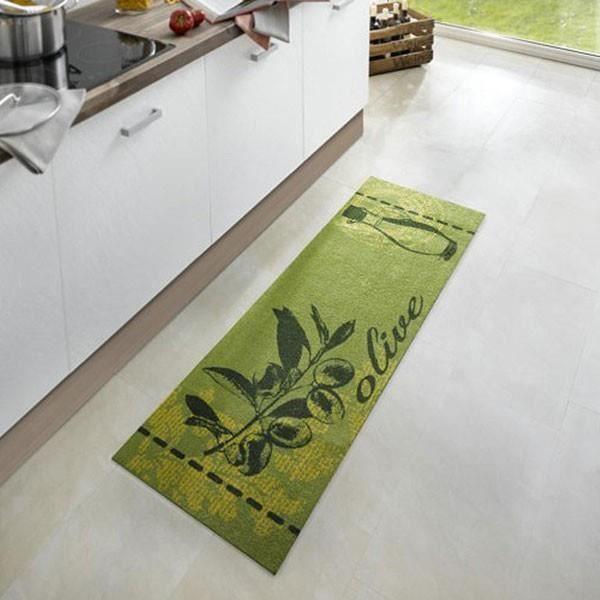 Tapis De Cuisine Olive Vert 50x150 Cm 102448 Achat Vente Tapis