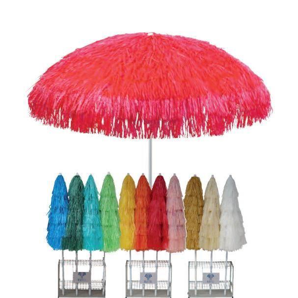 Parasol KENYA Rafia 200/8 cm Ecru   Achat / Vente parasol Parasol