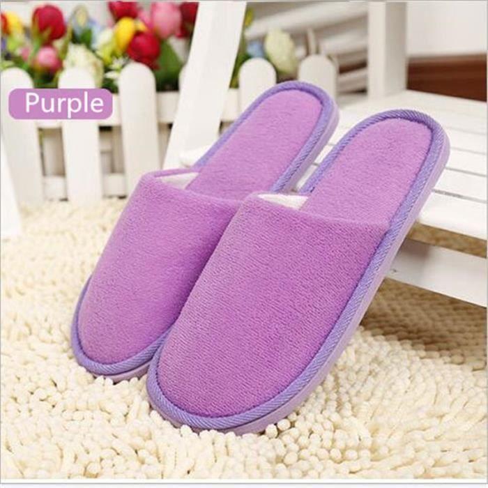 Chaussures pour femmesAccueil Pantoufles Pantoufles en coton chaud d'hiver Confortable des chaussures confortables qualité OmUib
