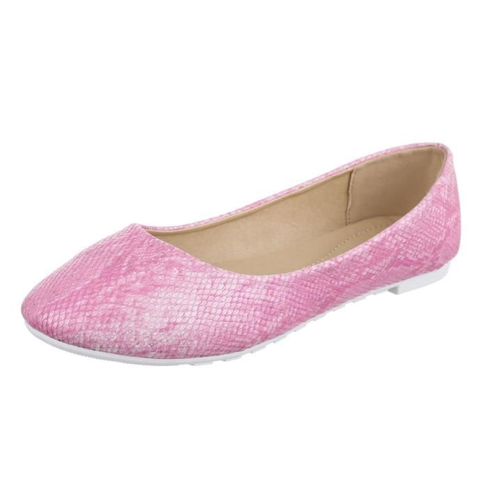 Chaussures femmes Ballerine Escarpins violet