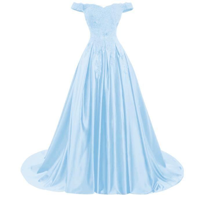 Robe bleu ciel soiree