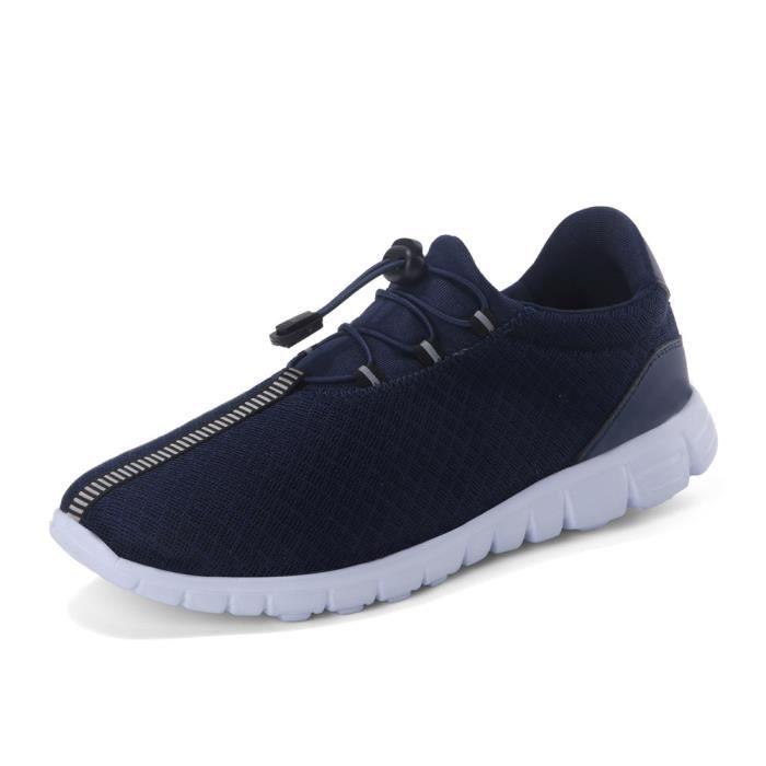 Moccasins Homme Surface de maille léger version Moccasin résistantes à l'usure Nouvelle Mode Respirant Chaussures Plus Taille 40-47