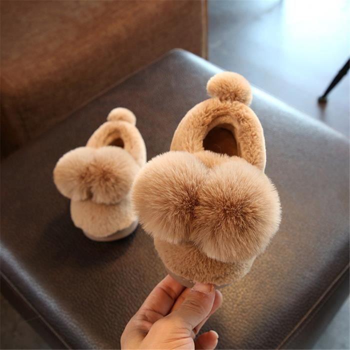 Ballon Chaussons Haut qualité Mignon Coton Chausson Plus De Cachemire Femme Hiver Chaussure Confortable décontractées A1GKj