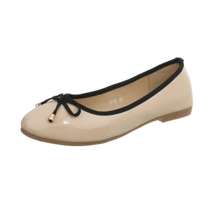 Chaussures On Femme Slipper 36 Slip Flats beige Beige Parti Orange Ballerinas jaune pwpqX7xnr