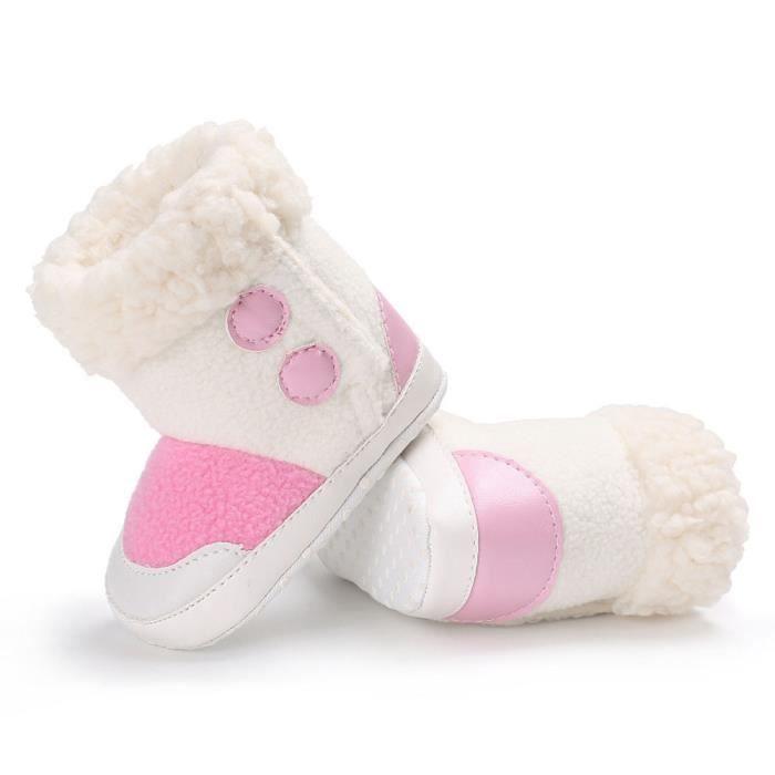 BOTTE Bébé fille garçons doux semelle bottes bottes de neige infantile bambin nouveau-né réchauffement chaussures@Rose