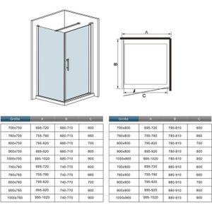 paroi de douche 60 cm achat vente pas cher. Black Bedroom Furniture Sets. Home Design Ideas