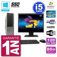 """UNITÉ CENTRALE + ÉCRAN PC Dell 390 DT Ecran 19"""" Intel i5-2400 RAM 8Go SSD"""