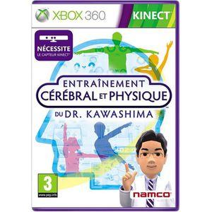JEUX XBOX 360 ENTRAINEMENT CEREBRAL & PHYSIQUE DR KAWASHIMA/X360
