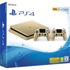 CONSOLE PS4 Nouvelle PS4 Slim Gold 500 Go + 2e Manette DualSho