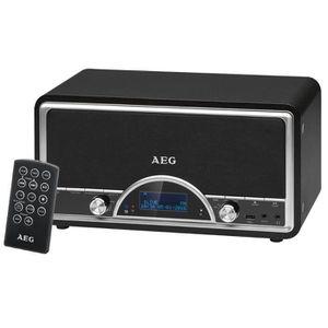 AEG NDR 4378BK DAB Radio Vintage Dab + Télécommande Inclus + USB + Aux-In - Noir