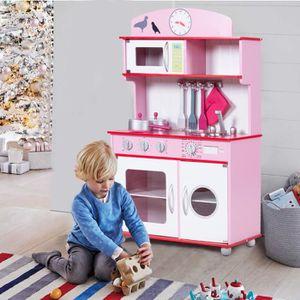 DINETTE - CUISINE Cuisine enfant cuisine jouet pour enfant rose cuis
