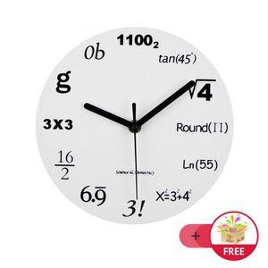 252b6f76a7429c HORLOGE - PENDULE Horloge Murale Silencieuse 30CM Pendule Ronde Chif