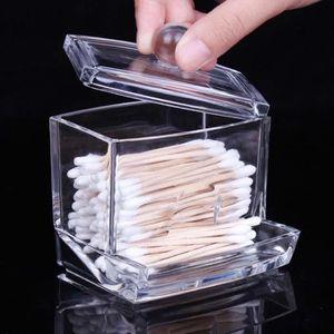 DISTRIBUTEUR DE COTON titulaire du coton - tige d'acrylique clair case c