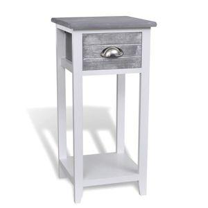table de chevet achat vente table de chevet pas cher cdiscount. Black Bedroom Furniture Sets. Home Design Ideas