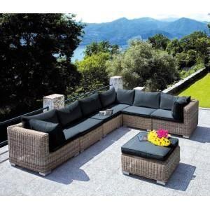 Salon de jardin complet Antigua couleur Gris Kubu - Achat / Vente ...