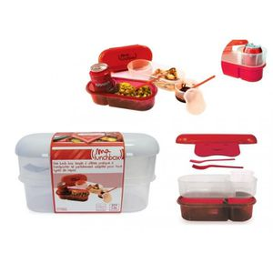 lunch box a compartiment bento achat vente lunch box a. Black Bedroom Furniture Sets. Home Design Ideas