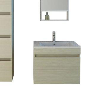 Meuble salle de bain bois clair - Achat / Vente Meuble salle de ...