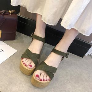 ESCARPIN Casual Wedge  Mode Plates-formes bout ouvert Peep