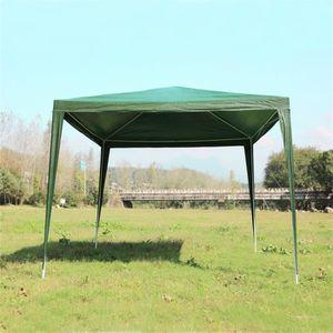 Pergola Tente de jardin 3*3M vert polyéthylène et acier - Achat ...