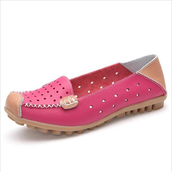 Femme Mocassin Bwys Occasionnelles Cuir Leger Chaussure xz044rose35 b7f6gy