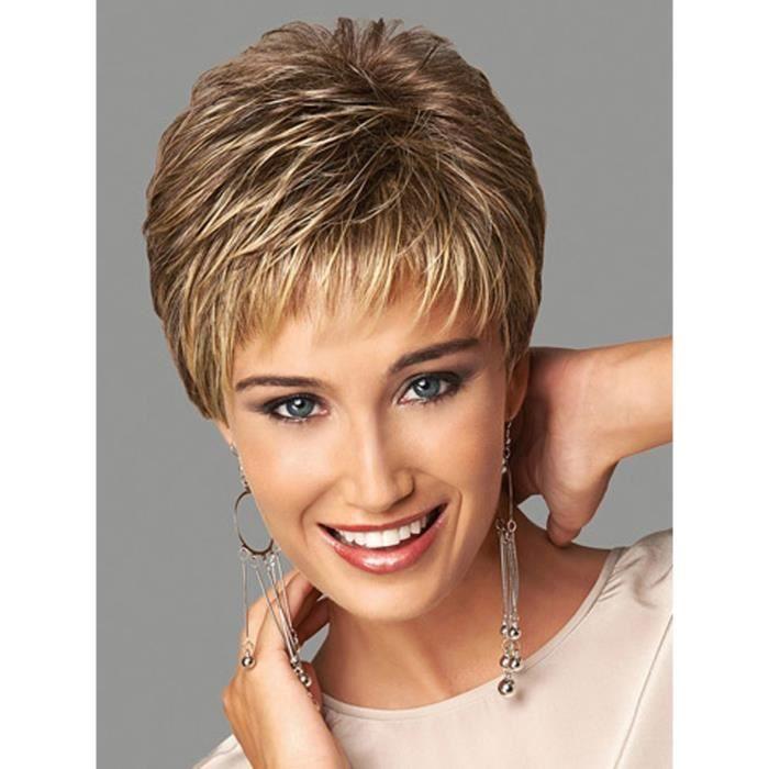 perruque femme cheveux courts perruque naturelle achat vente perruque postiche perruque. Black Bedroom Furniture Sets. Home Design Ideas
