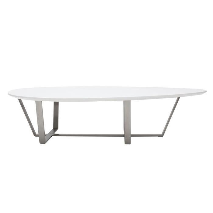 Miliboo Table Basse Design Blanche Milla Achat Vente Table