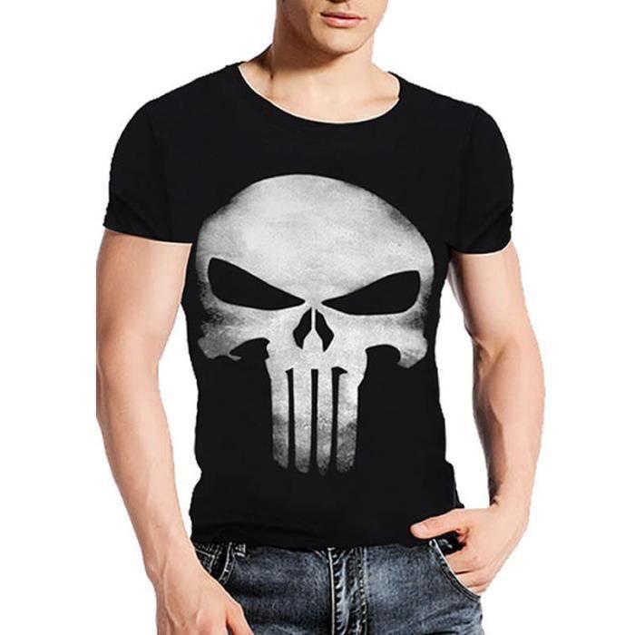 T-SHIRT Kingwing® crâne masculin imprimé manches courtes h