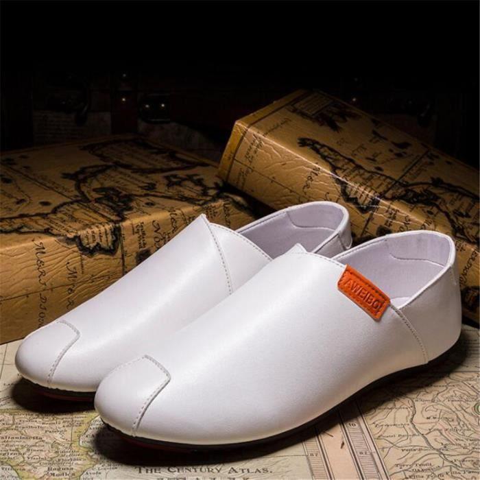 Hommes Moccasin nouvelle marque de luxe Qualité Supérieure Moccasin cuir Confortable homme Chaussures Grande Taille 39-44 EAXVQJf