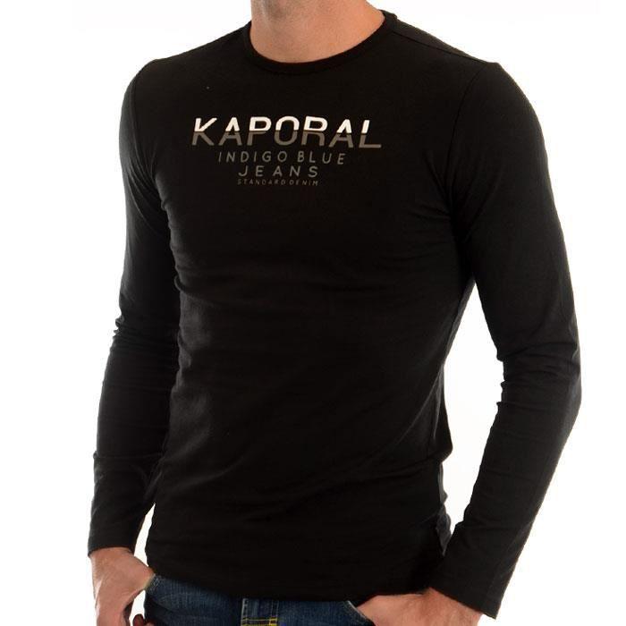 Tee shirt KAPORAL 5 JEANS homme ponio noir Noir Noir - Achat   Vente ... c619445b1161