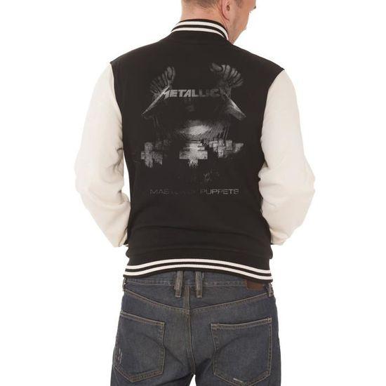 Master Puppets Of Veste Homme Nouveau Officiel Metallica Baseball De 6wq7ZnRp