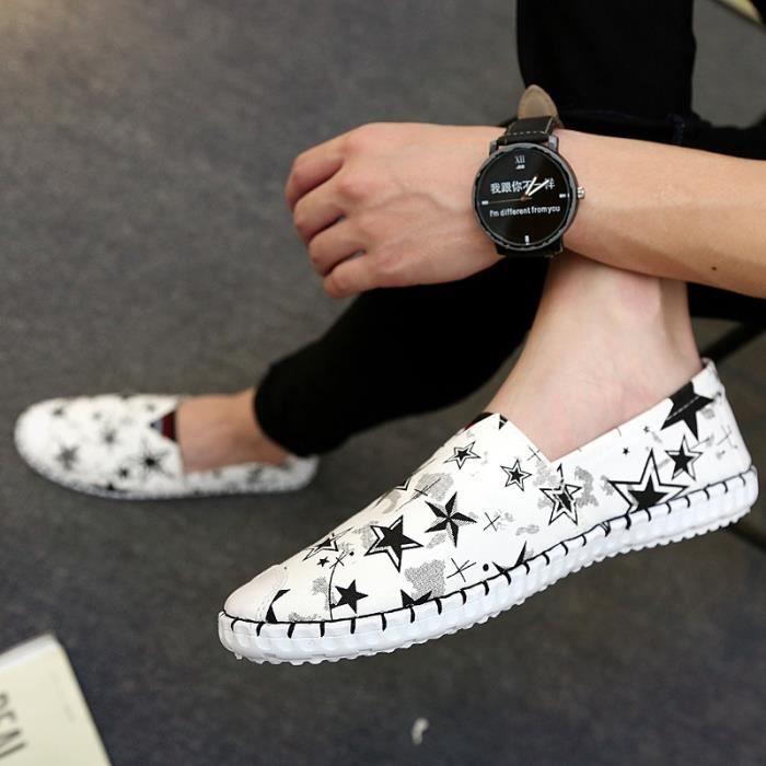 plates Chaussures pour Mode Slip Lightweight d'été On design les hommes Chaussures homme Casual Graffiti Mesh pour New Chaussures wIqpz4