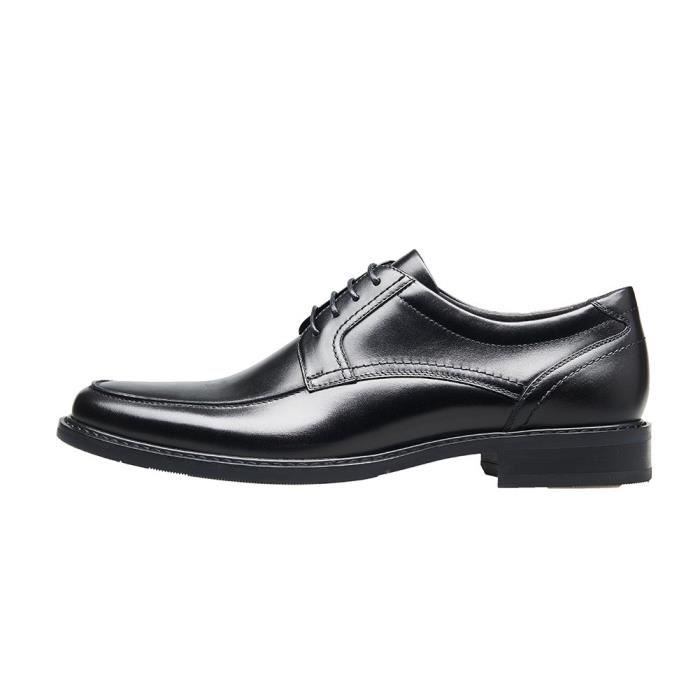 Chaussures en cuir d'affaires formelles à bout rond en dentelle Chaussures derby CM3FB Taille-44