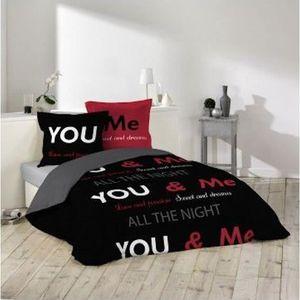 housse de couette rouge et noir achat vente housse de couette rouge et noir pas cher. Black Bedroom Furniture Sets. Home Design Ideas
