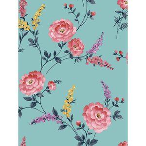 Superfresco Facile Romance Floral Noir Rose Texture Papier Peint